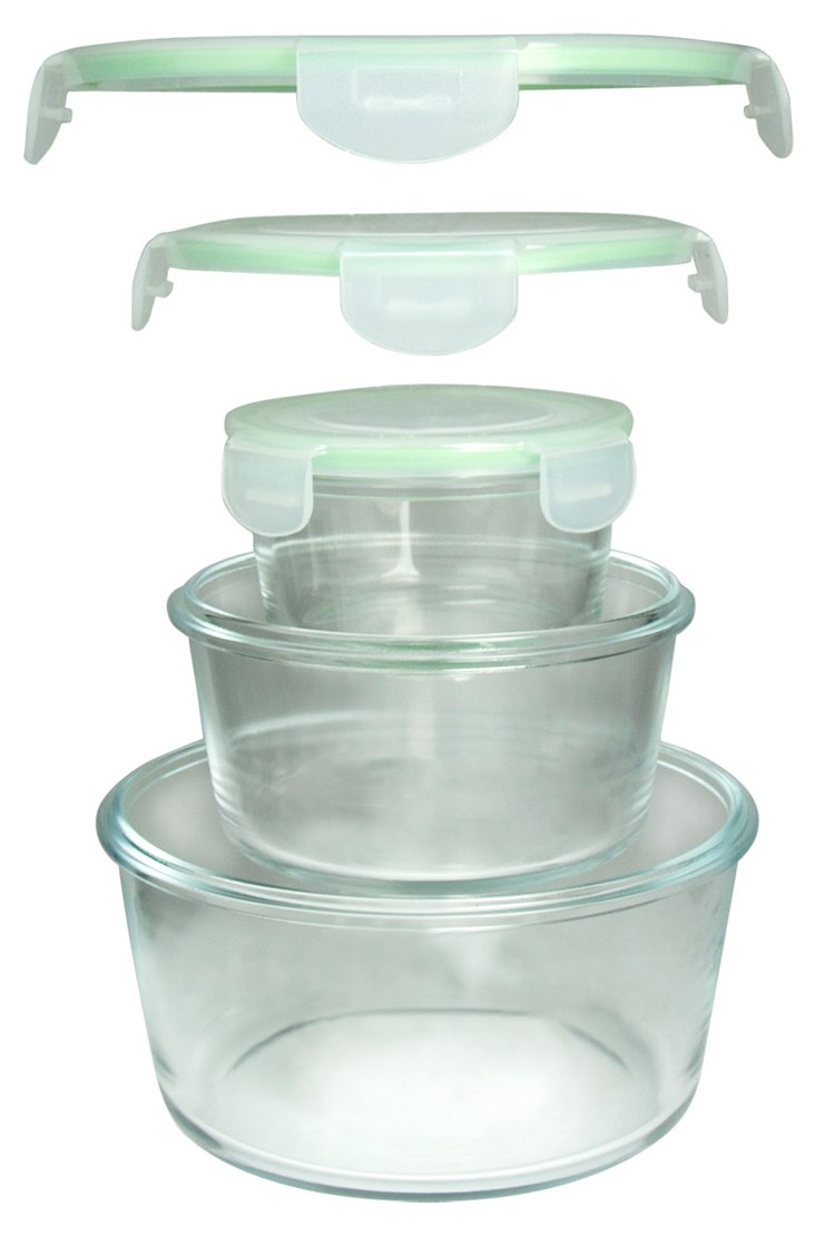 S/3 Nested Round Containers w/ Lids