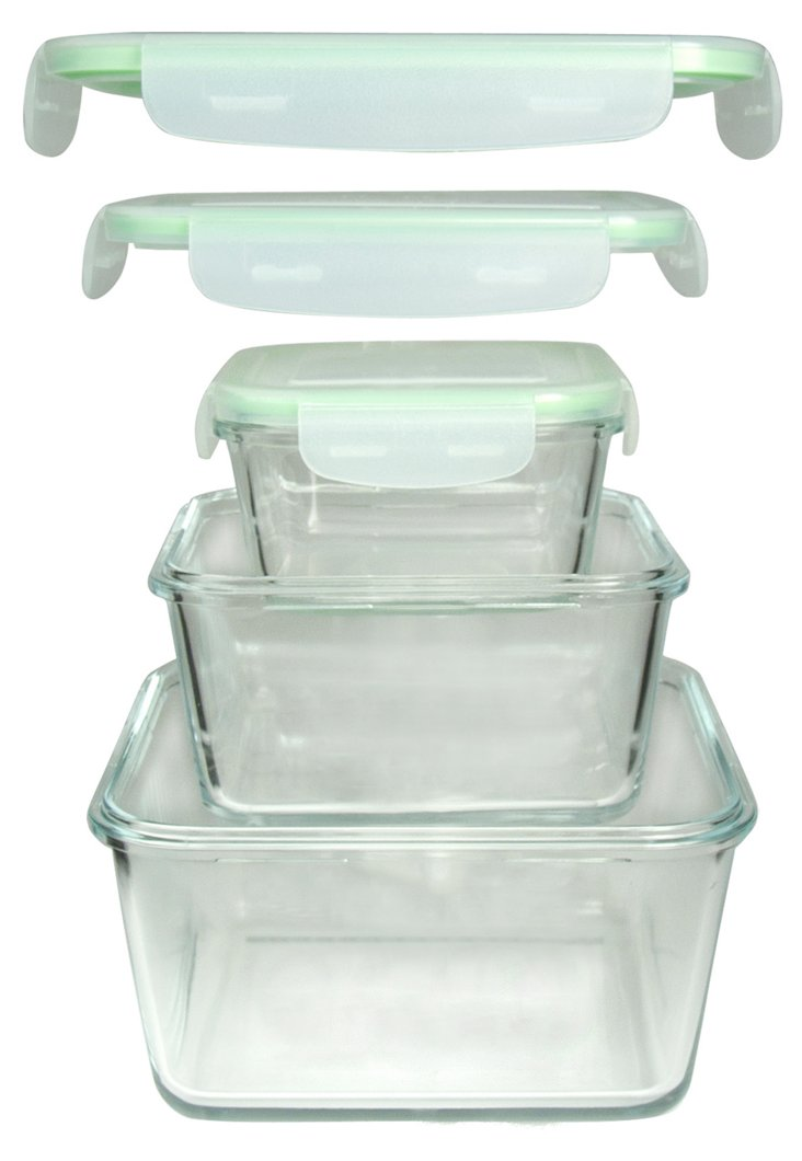 S/3 Nested Square Containers w/ Lids