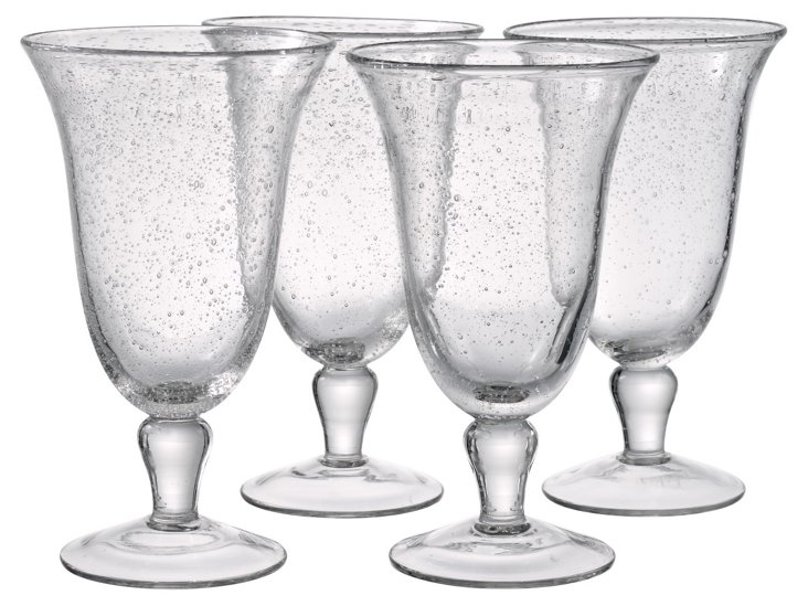 S/4 Iris Footed Tea Glasses