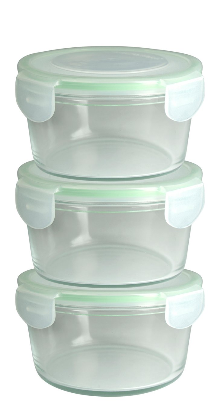 S/3 Round Containers w/ Lids