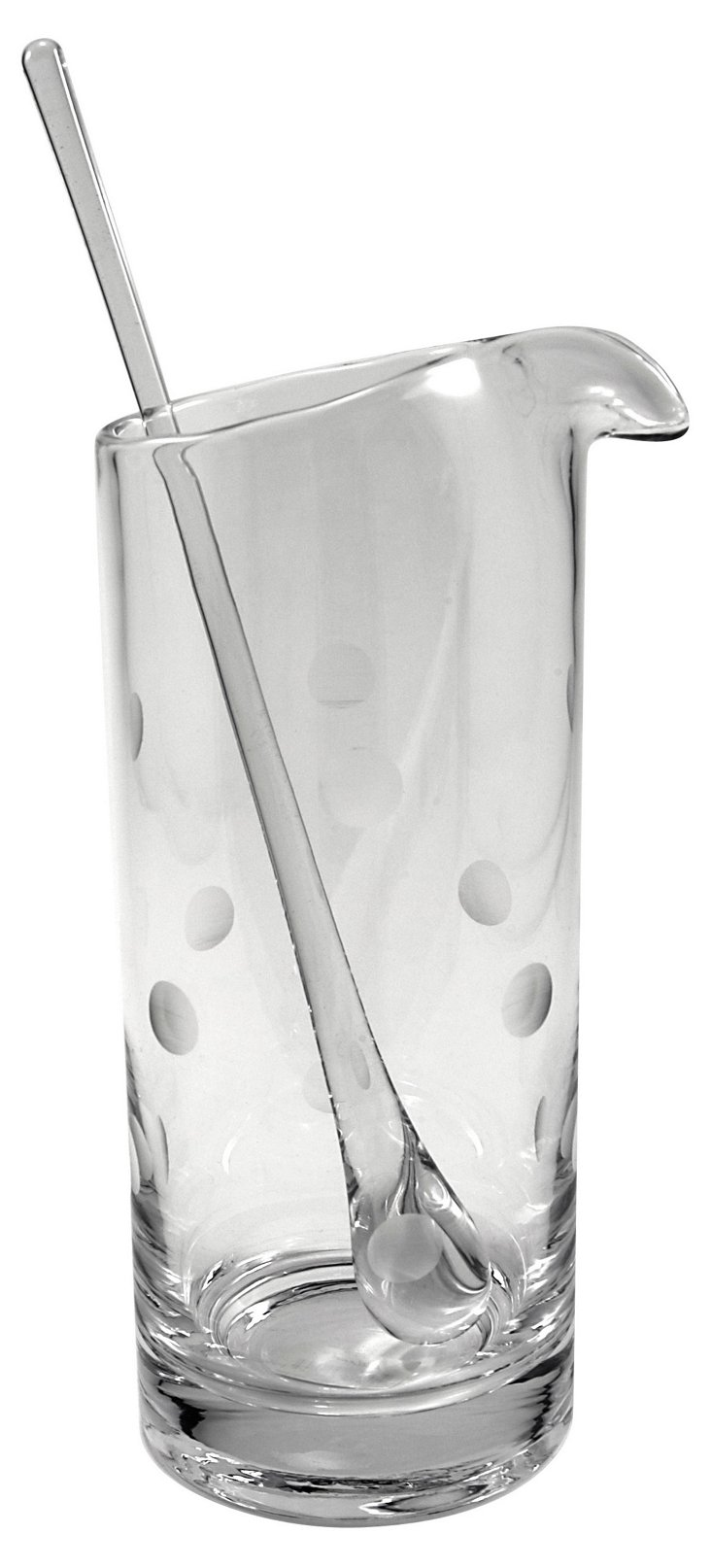 Polka Dot Pitcher w/ Stirrer