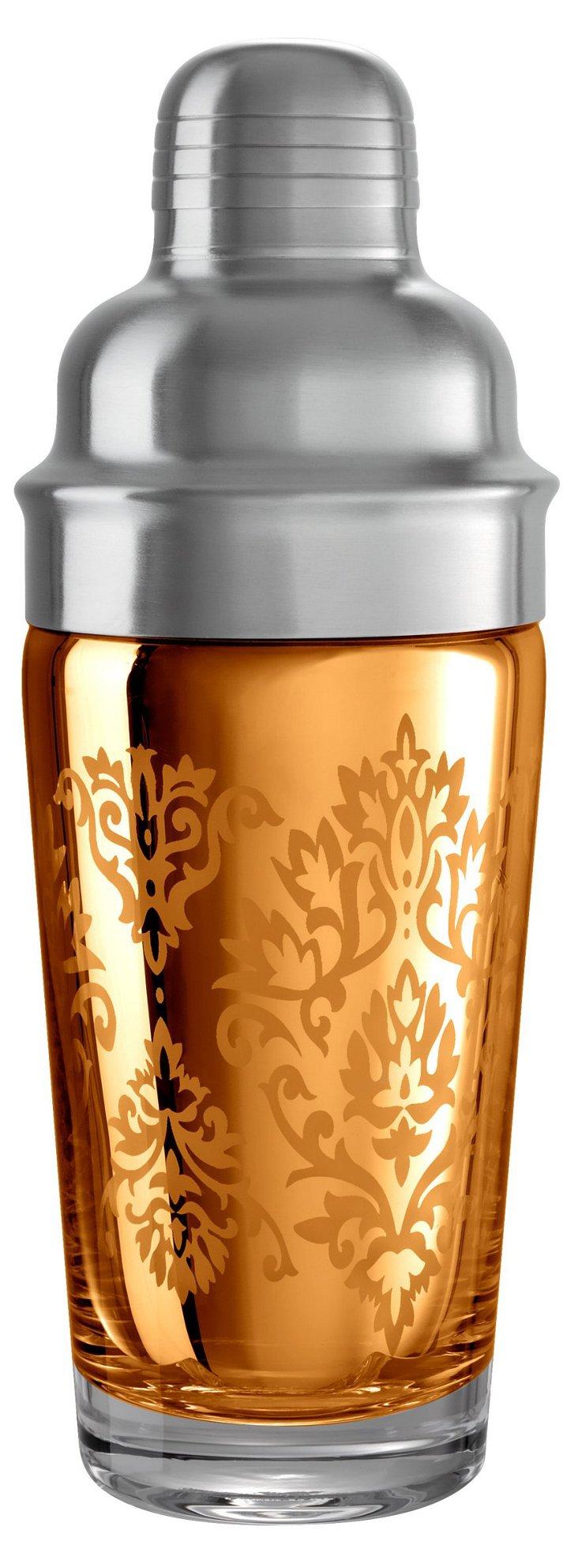 Brocade Cocktail Shaker, Gold