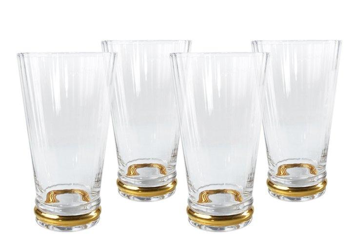 S/4 Jewel Highball Glasses