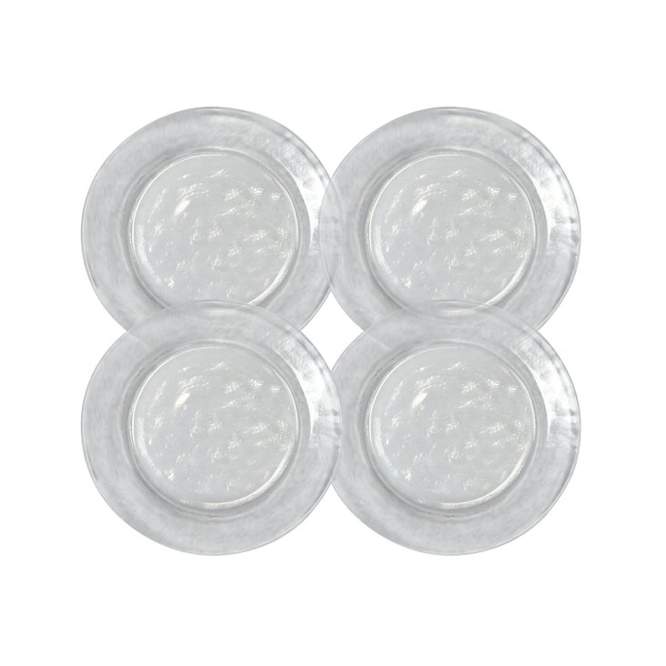 S/4 Colby Salad Plates, Clear