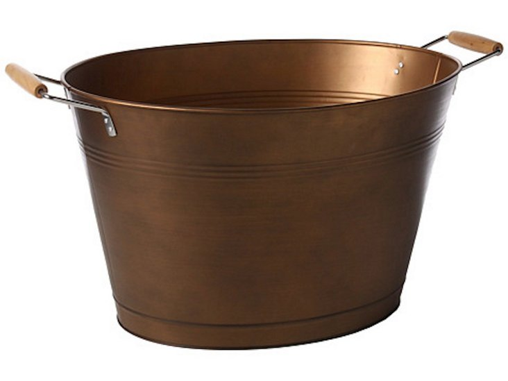 Oasis Oval Party Tub, Antiqued Copper