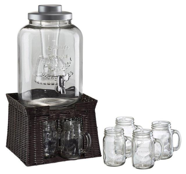 Oasis Beverage Dispenser w/ Mason Jars
