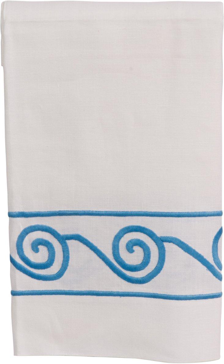 Blue Spiral Guest Towel