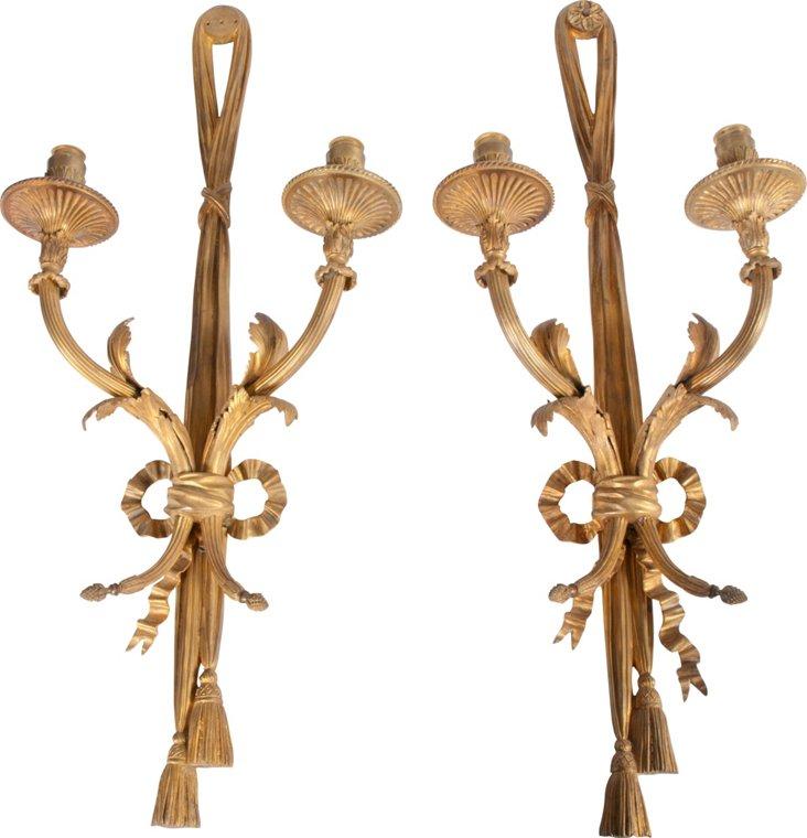 Louis XVI-Style Sconces, Pair