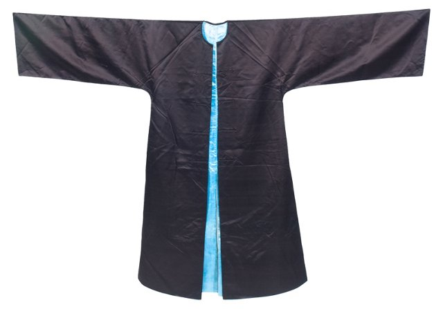 Antique Chinese Long Robe, Purple