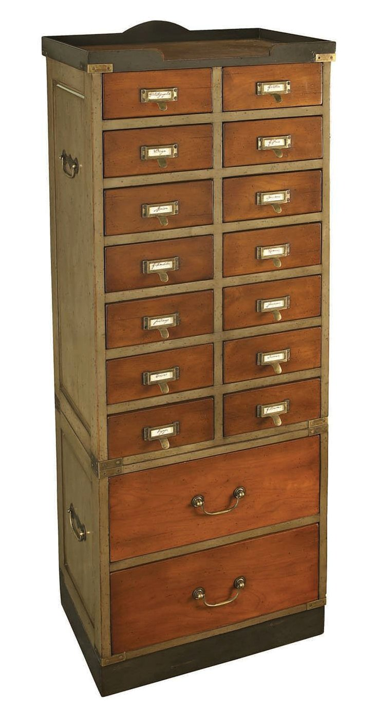 Collector's 16-Drawer Cabinet