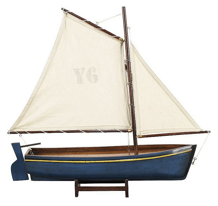 Madeira Y6 Sailboat Model, Blue