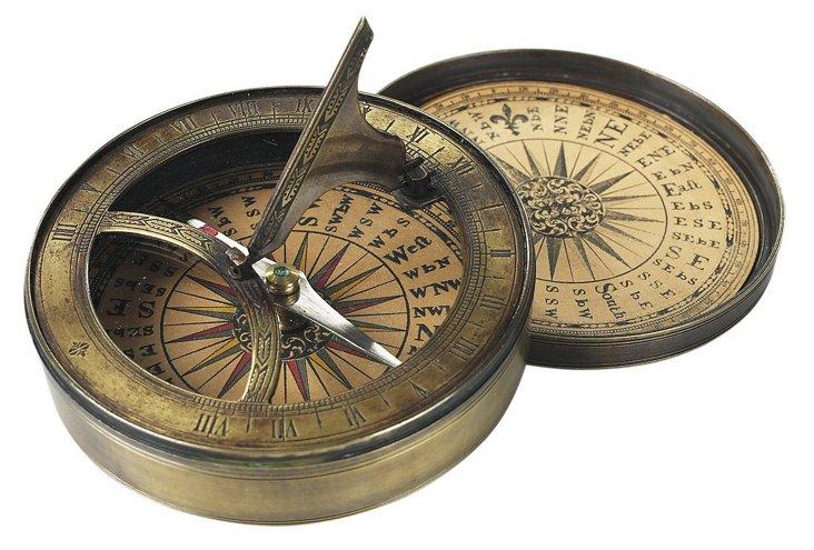 18th-Century-Style Sundial & Compass