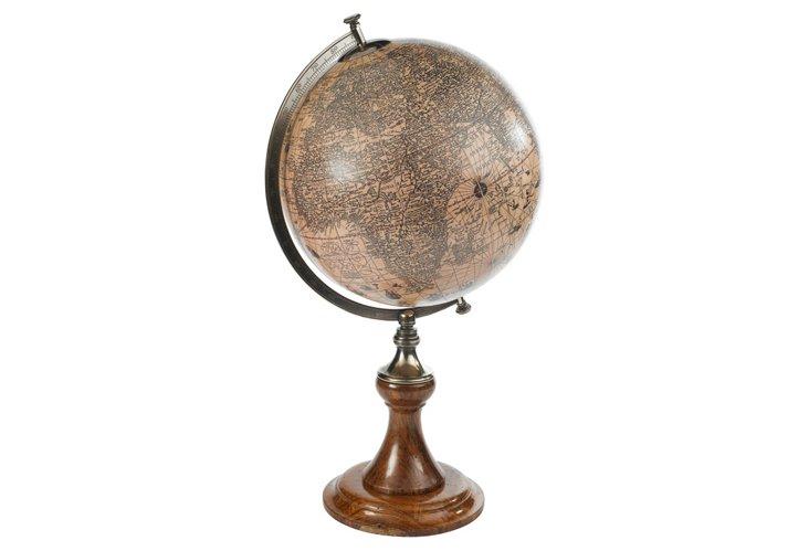 Hondius 1627 Globe, Classic Stand