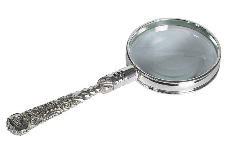 Rococo Magnifier, Silver