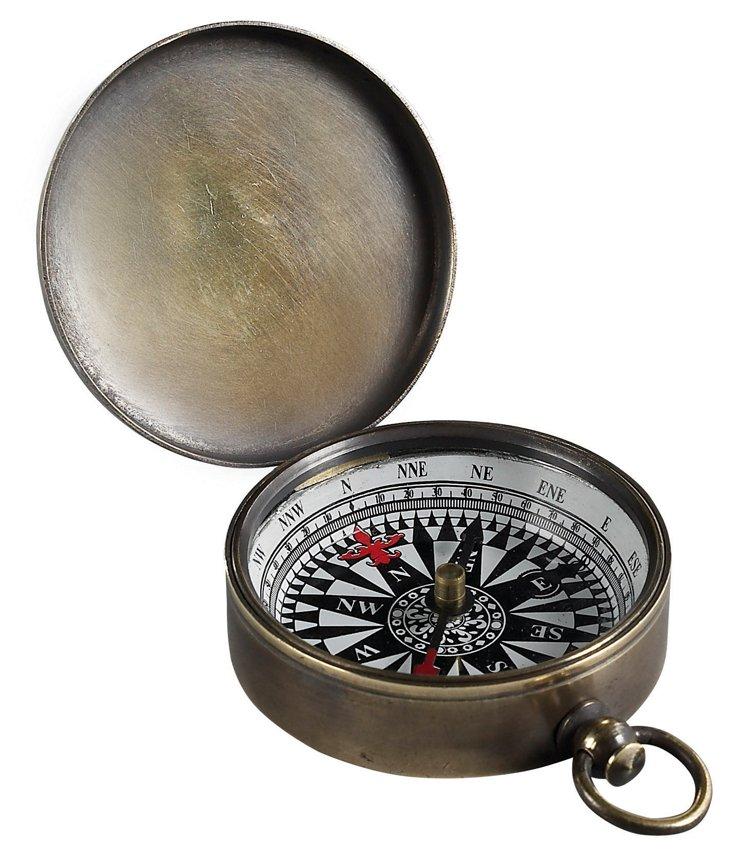 Pocket Compass, Bronze