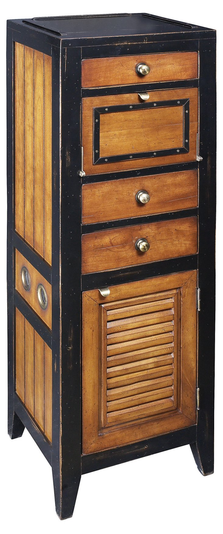 "47"" Cape Cod Locker, Black"