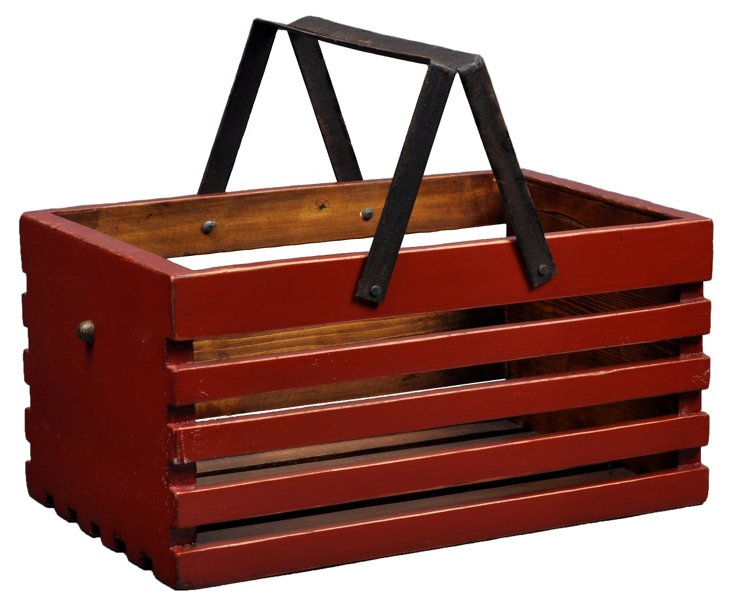 "15"" Fruit Caddy Bucket, Red"