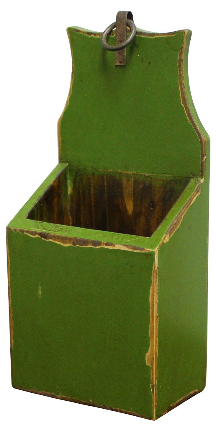 Vintage Chopstick holder, Green