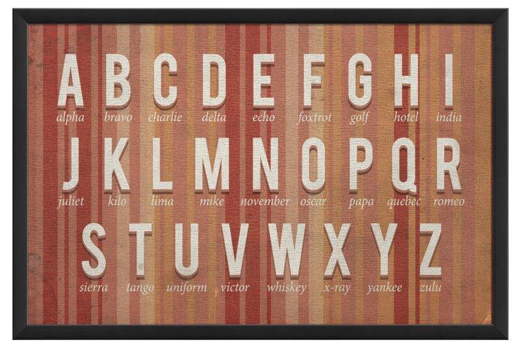 Phonetic Alphabet Pink