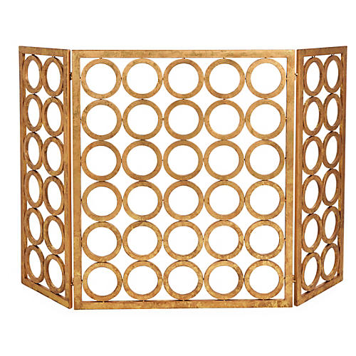 "32"" Mason Three-Panel Fire Screen"
