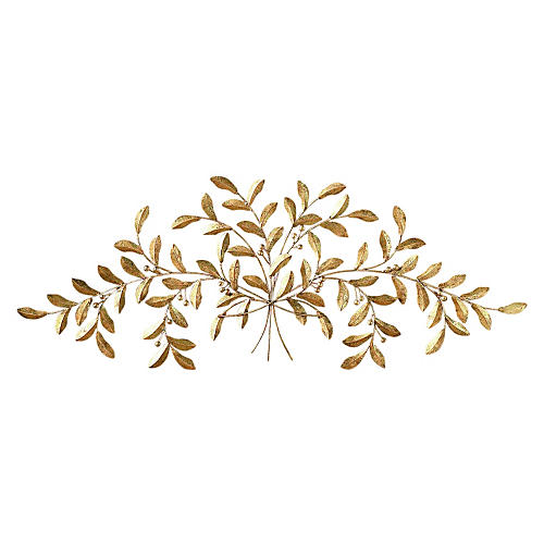 Leaf Wall Accent, Gold