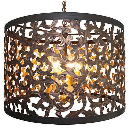 Leaft 6-Light Chandelier, Gold