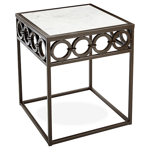 Jaiti Marble Side Table, Bronze