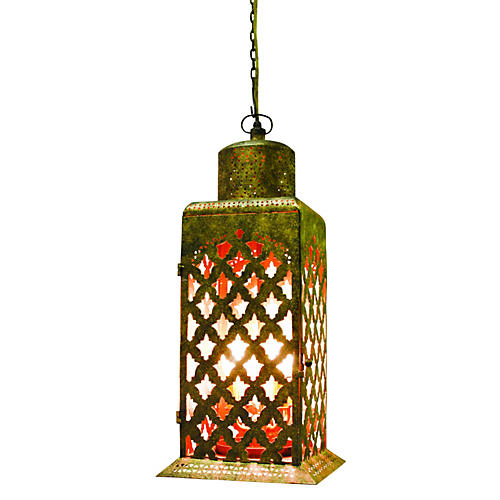 Moroccan Cut-Out Chandelier, Gold