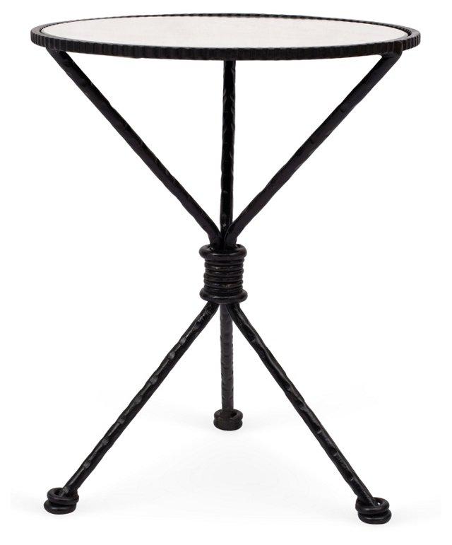 Finn Mirror-Top Iron Side Table