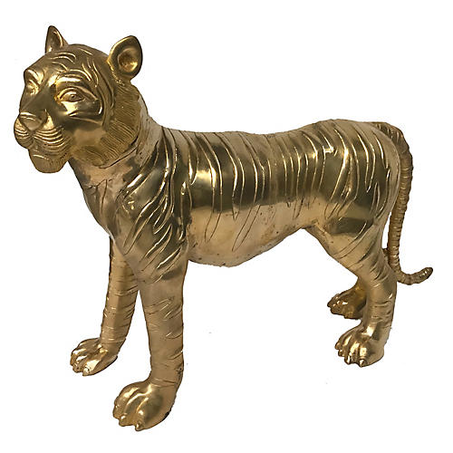"26"" Tiger Figure, Gold"