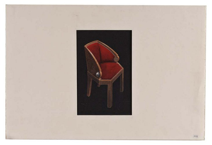 Red Chair, Original Drawing
