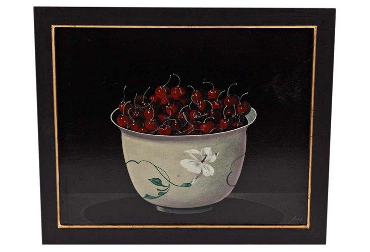 Cherries, Oil Painting