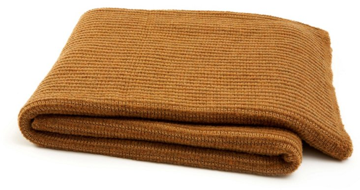 Merino Wool Throw, Spice