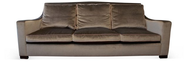 Olive & Brown Sofa
