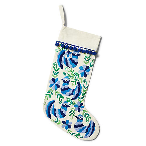 "17"" Amirah Stocking, Blue/Green"