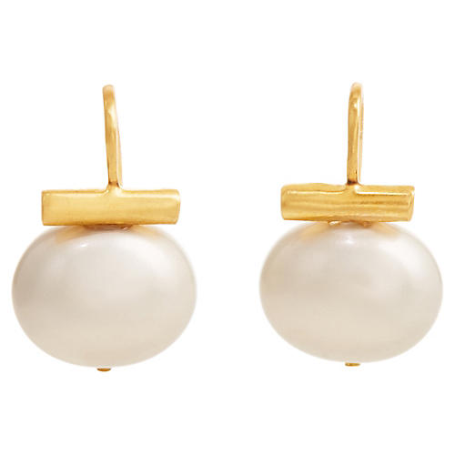 Mother-of-Pearl Mini Drop Earrings