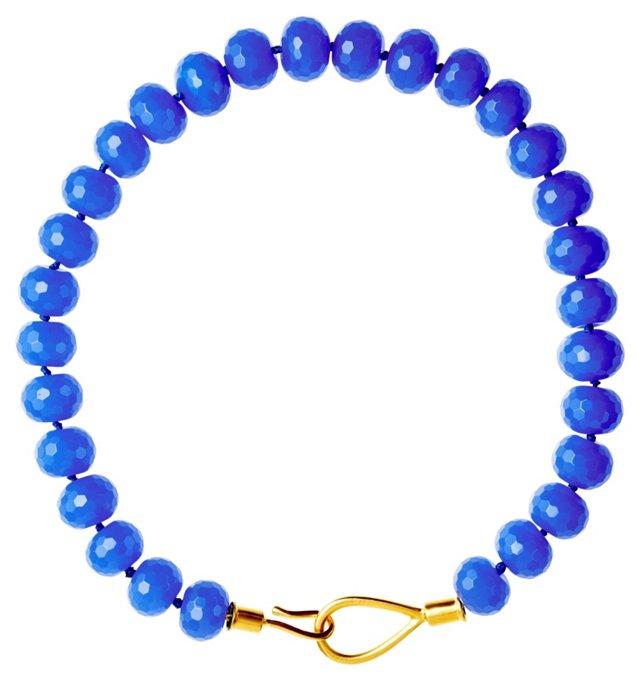 Iris Blue Quartz Lasso Clasp Necklace