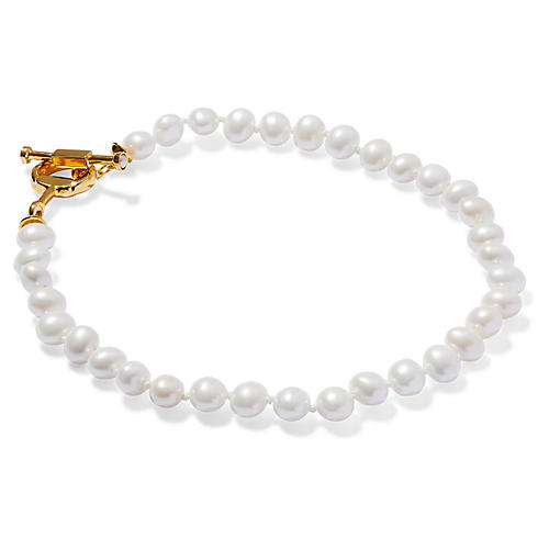 Mother-of-Pearl Pebble Necklace, Pearl