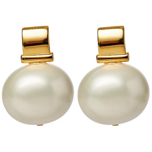 Mother-of-Pearl Scoop Drop Earrings