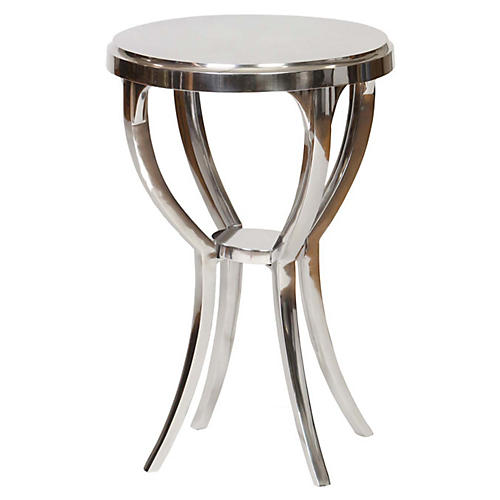 Brenna Side Table, Silver