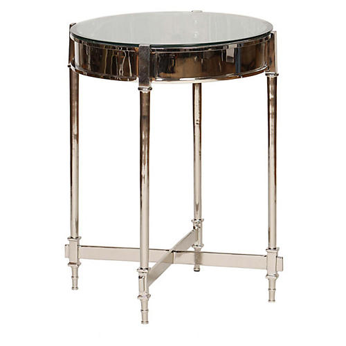 Antonia Side Table, Silver