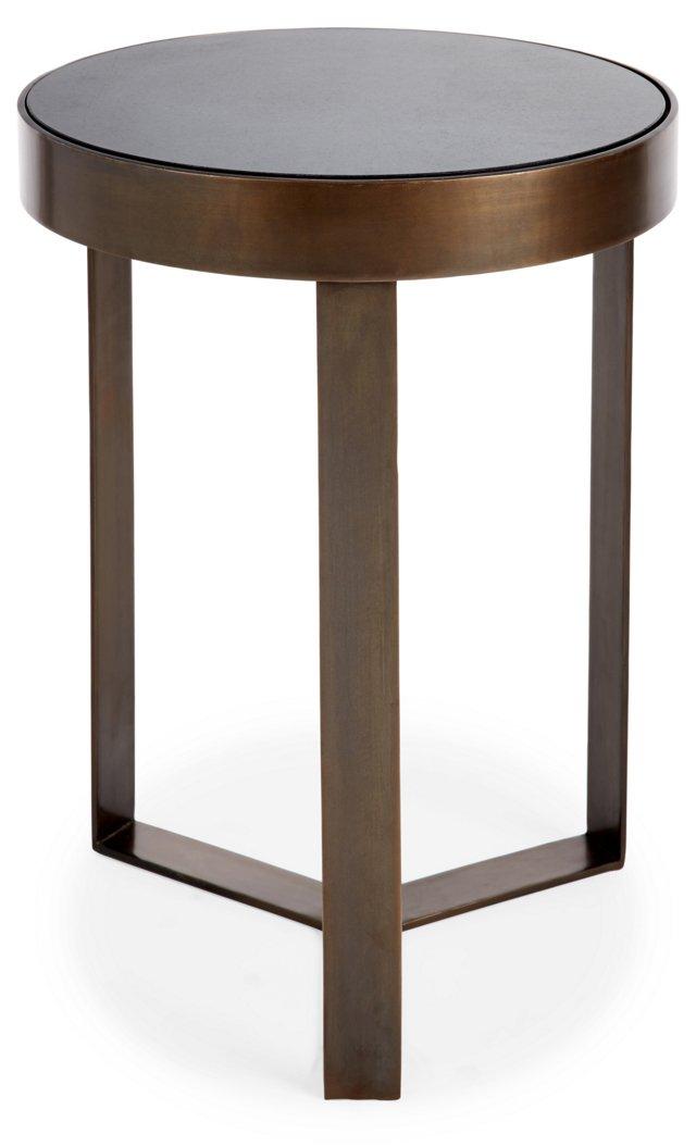 Carlos Side Table, Brass