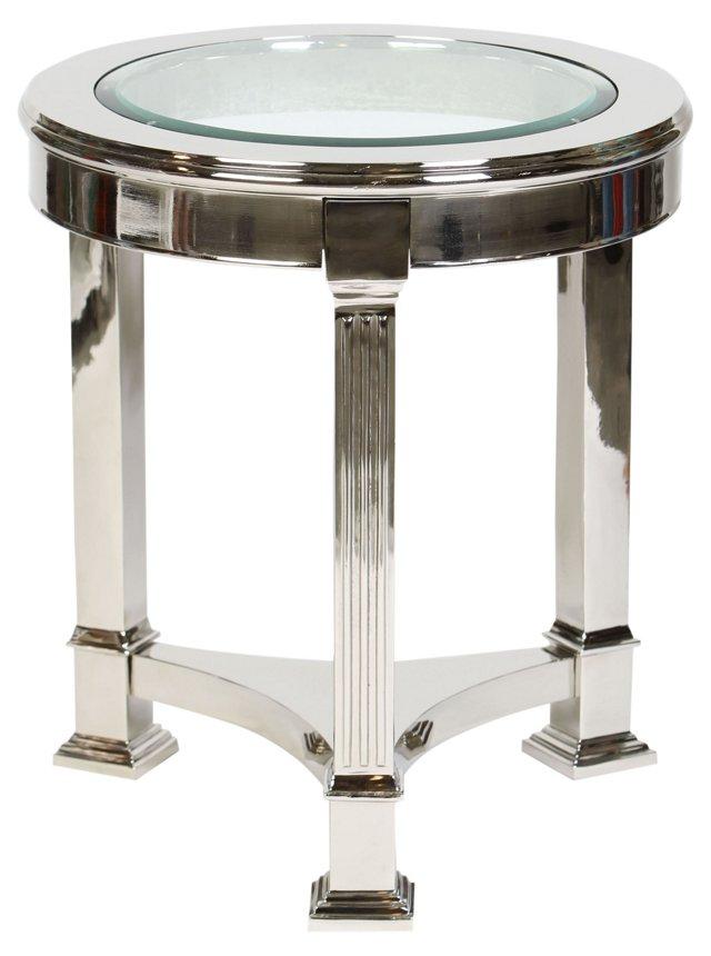 Edwardo Accent Table, Nickel