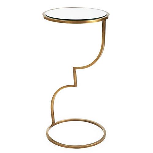 Winnie Side Table, Brass