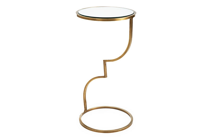 Winnie Side Table, Brass
