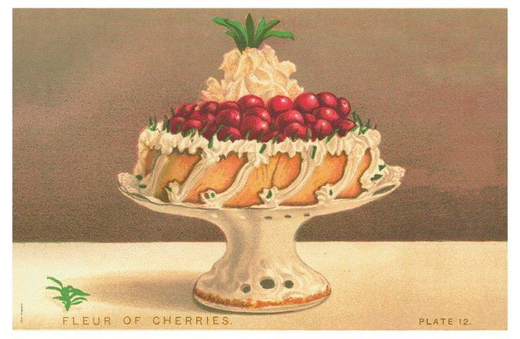 S/12 Cherry Cake Place Mats
