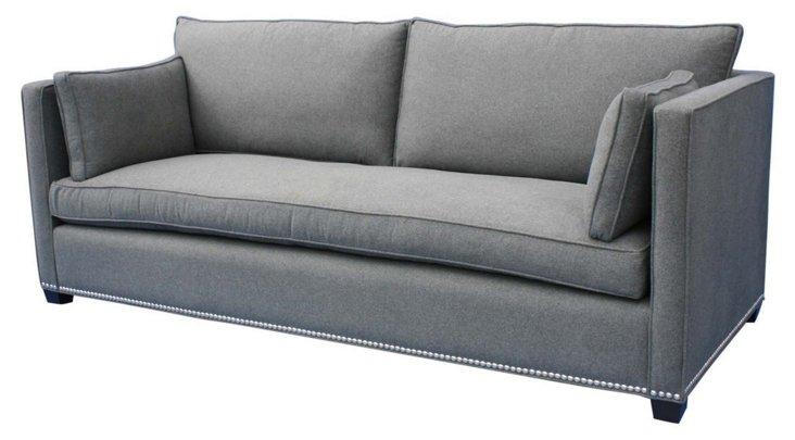 "Studio 90"" Sofa, Charcoal"