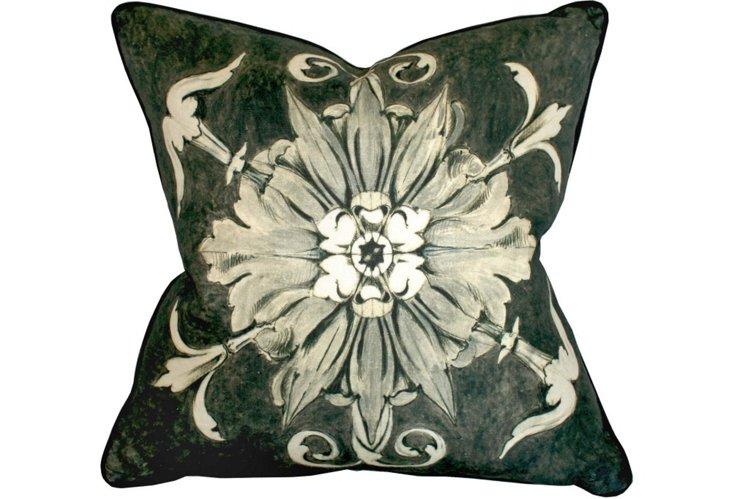 Fleurette Ash Pillow, 22x22