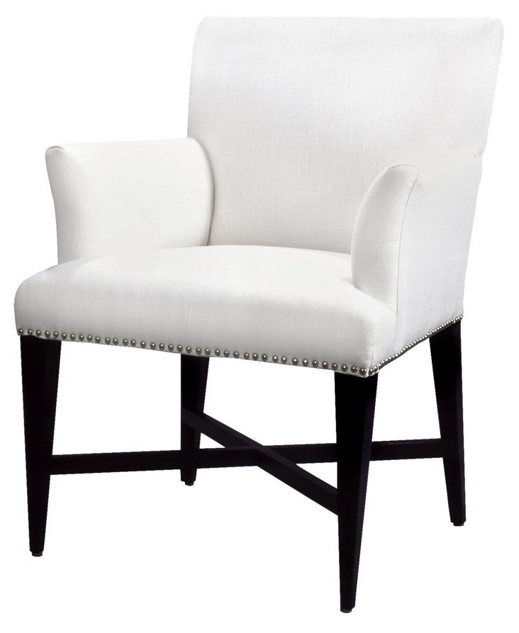 Avenue Linen Accent Chair, Oyster