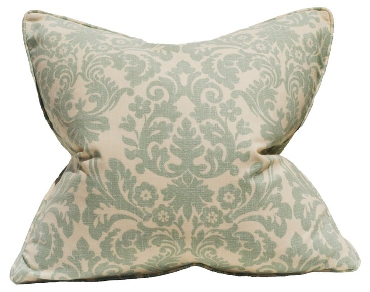 Essence Spa 22x22 Pillow, Seafoam
